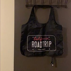 Black bag with CA road trip on both sides